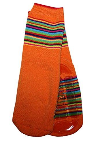 Weri Spezials Unisexe Bebes Voll-ABS-Turtle Chaussettes Colorful mondiale! Orange 12-24 Mois (19-22)