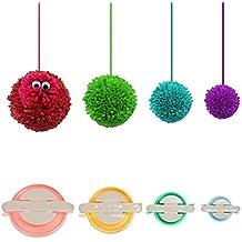 4 Größen von Pompom Maker für Fluff-Kugel-Weber DIY Wolle Knitting Craft-Werkzeug-Set Dekoration von WSKTOP