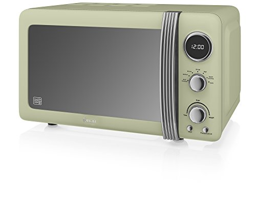 Swan SM22030GN Retro Digital Microwave, 800 W, Green