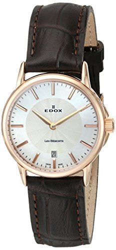 Edox Women's 57001 37R NAIR Les Bemonts Analog Display Swiss Quartz Brown Watch