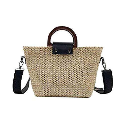Retro Stroh Handtaschen Schultergurt Strand Messenger Umhängetasche Strandtaschen für Mädchen ()