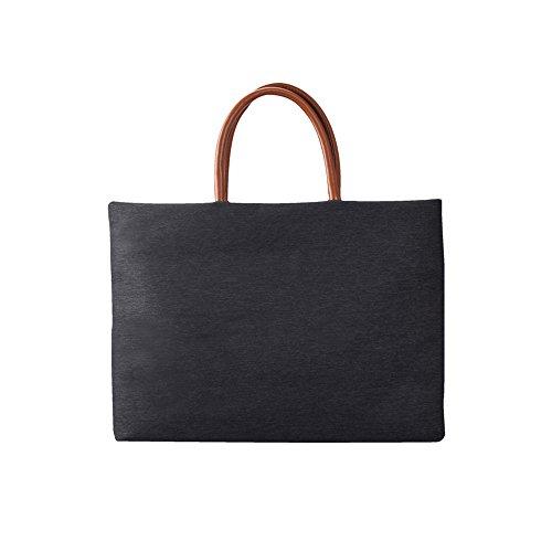 elecfan Laptop Schultertasche, Multifunktions Wasserdichter Notebook-Tasche Laptop-Schulter-Beutel Handtasche Tragetasche Schulter Tasche für bis zu 15-15.6 Zoll Laptop (Schwarz)