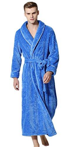 Peignoir Long Polaire Femme Homme Unisexe Couple Pyjama Kimono Robe de Chambre Manche Longue Bathrobe Nightgown Vêtements de Nuit pour Hotal Spa Homewear Romper Sleepsuit - Landove