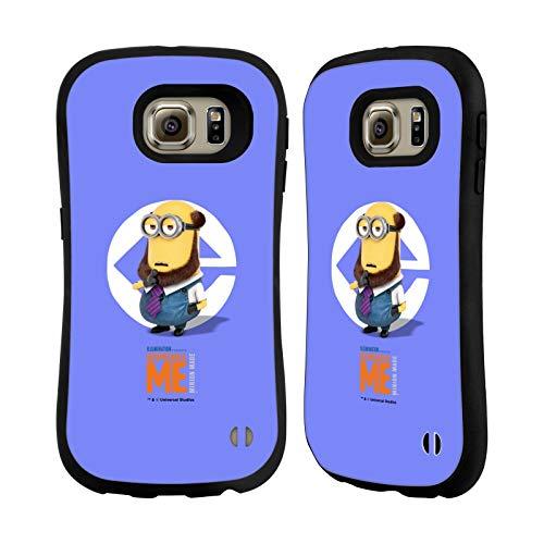 Head Case Designs Offizielle Despicable Me Kevin Bart Kostuem Minions Hybride Huelle kompatibel mit Samsung Galaxy S6
