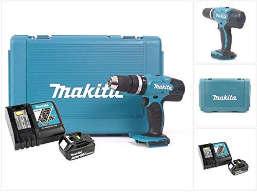 Makita DHP 453 RF 18V Li - Ion Akku Schlagbohrschrauber inkl BL 1830 3,0 Ah Akku und Ladegerät im Koffer
