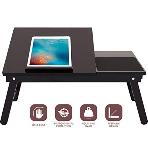 Laptoptisch Heimcomputertisch aus Holz Schlafsaal für Studenten Klappbarer Laptoptisch Kleiner Mehrzweckschreibtisch |Ergonomisch |Falten flach |, schwarz, JVCZ -