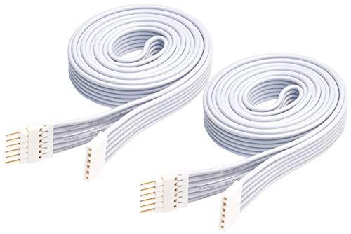 Verlängerungskabel für Philips Hue Lightstrip Plus (1 m, 2er Pack, Weiß)
