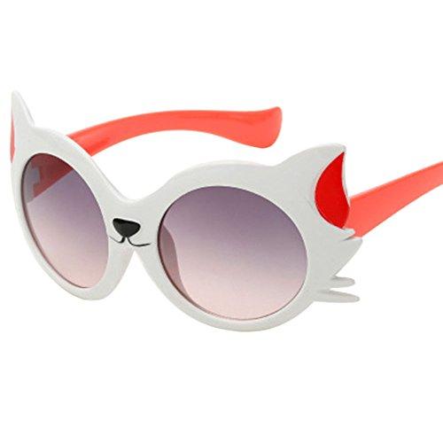 Honestyi Kindersonnenbrille Baby Mädchen Jungen Karikatur Katze UV400 Kleinkind Sonnenbrille Kinderkarikaturkatzeohrsonnenbrille
