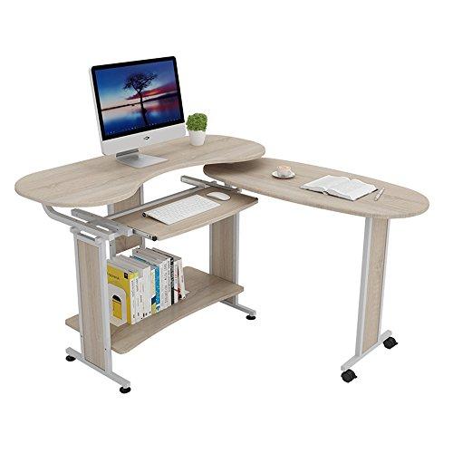 Zhuozi FUFU Wandhalterung 2-teilige Workstation Klapp Computer Schreibtisch mit Bücherregalen, PC Laptop Studie Schreibtisch/Tisch mit Lagerung Regale für kleine Space Oak Drop-Blatt-Tabelle -