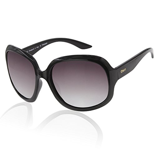 Duco occhiali da sole polarizzati 100% uv protection 3113 vino rosso telaio marrone donna lente