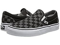 Vans Mens Classic Slip On (Suede & Suiting) Skateboarding Shoes Black/Pewter Checkerboard 10.5 B(M)