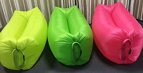 ZERUU® Aufblasbarer Strandliege-Luftschlafsack-im Freiensofa Bequemer aufblasbarer Aufenthaltsraum-bewegliche Kompression Sofa-Luft-Beutel-im Freien Kompressions-Luft-Betten, beweglicher Stuhl, Luftmatratzen Beds.Ideal für das Lounging (Green)