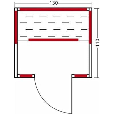 Infraworld Infrarotkabine Nuss 130