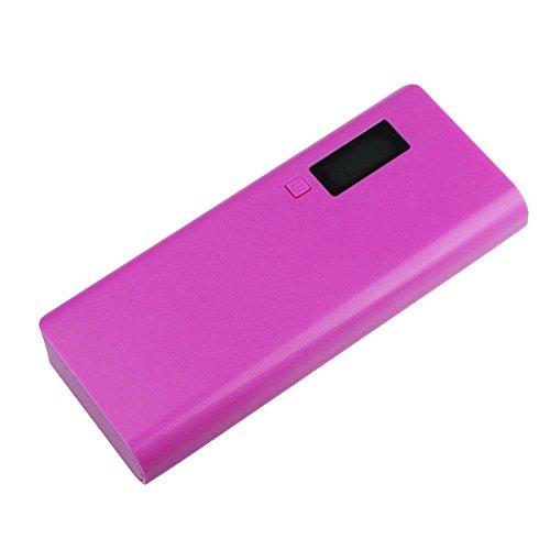 home Energie Bank Batterie Kasten Ladegerät 5V 2A 18650 für iphone6 Mobiltelefon, Powerbank Batteriefach (Pink) (Energie-bank-batterie-kasten)