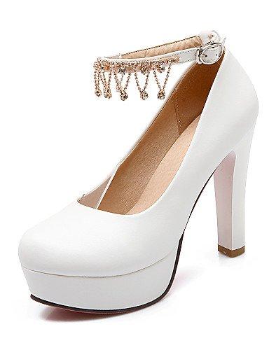 WSS 2016 Chaussures Femme-Bureau & Travail / Décontracté-Bleu / Rose / Blanc-Gros Talon-Talons / Bout Arrondi-Talons-Polyuréthane blue-us5 / eu35 / uk3 / cn34