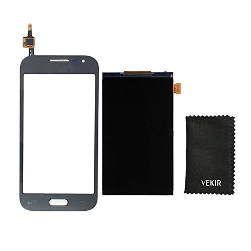 LCD-Bildschirm Ersatz + Touch Glas-Screen-Ersatz Kompatibel mit Samsung Galaxy Core-Prim G361F G361 (schwarz) VEKIR Retail Verpackung