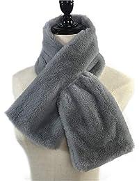 Guoyy 15x90 cm femmes hiver épaissir en peluche Faux fourrure de lapin  écharpe collier châle col ad99454bad8