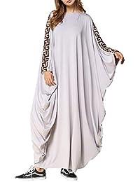 b49f8eaec01b zhxinashu Caftano Musulmano Vestiti Donna Islamico - Kaftano Abiti Arabo  Lunghi Maxi Dress Vestito Camicia Lungo