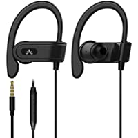 Avantree Sport Bügel-Kopfhörer mit Mikrofon, Kabelgebunden Laufen Kopfhörer/Ohrhörer mit Über-Ohr Haken iPhone, Samsung, Running Headset mit Ear Clips für Gym, Ausarbeiten, Workout Fitness - E171