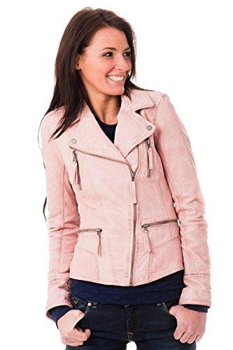 Oakwood Femmes Asymmetric Biker Jacket Rose Rose