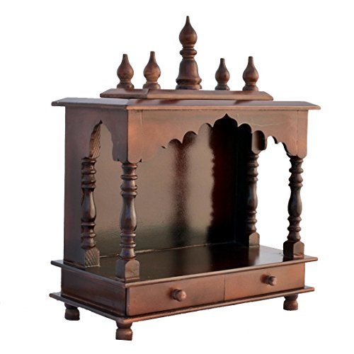 Home Temple / Wooden Temple/ Pooja Mandir / Pooja Temple With LED BULB