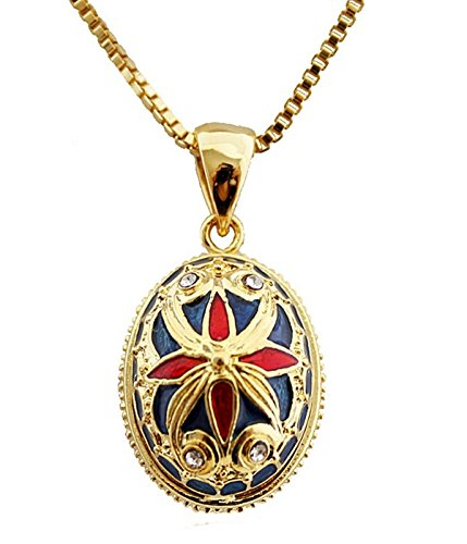 Rothschild Hat (Anhänger aus Ei Fabergé vergoldet, Emaille, Kristall