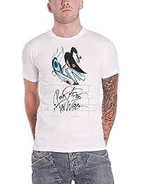 Pink Floyd T Shirt The Wall Teacher logo Nue offiziell Herren Weiß