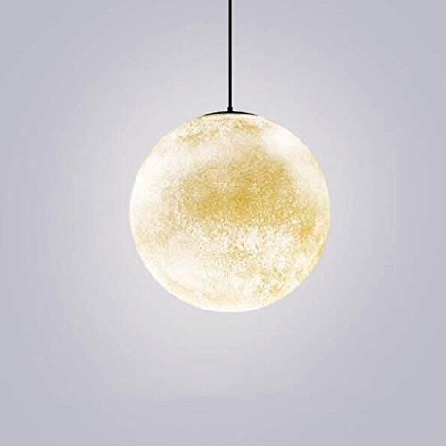 lustre GAODUZI Chambre Décoration Creative Personnalité Salon Salle À Manger Lit Lune Lune Unique Boule Chandeliers Luna Pendentif Design Moonlight Doux Oeil pour Le Sommeil E27