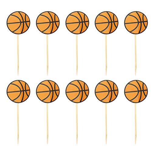 BESTOYARD Basketball Picks Cupcake Toppers Party Supplies Kuchen Dekoration für Geburtstagsfeier Sport Basketball Party 35 Stücke