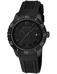 Wenger Unisex-Armbanduhr 01.0851.126 ROADSTER BLACK NIGHT Analog Quarz Kautschuk 01.0851.126 ROADSTER BLACK NIGHT