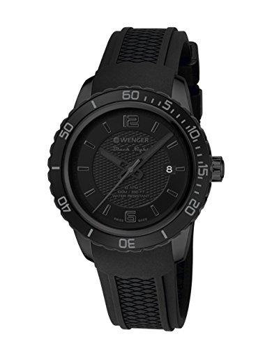 Wenger Roadster Black Night 01.0851.126 - Reloj de pulsera unisex, Negro/Negro