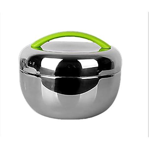 CANHFU Scatole di pot termica Apple lunchbox singolo strato isolamento in acciaio inox pranzo con riso , 1l