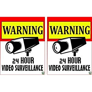 CCTV SIGN BOARD/STICKER-SIZE-6x9inch [High quality Vinyl Decal's] By Green Panda