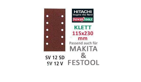 Hikoki 753450 Set di 45 fogli abrasivi per levigatrici a delta 60//80//120 con velcro
