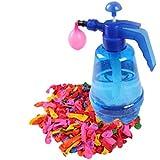 TOYMYTOY Bombes à eau Pompe à ballon d'eau portable avec 500 pcs Ballons pour Enfants Party Outdoor Piscine Jouet