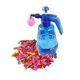 TOYMYTOY Wasserballonpumpe mit 500 Stück Wasserballons für Kinder Party Outdoor