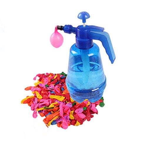 NUOLUX Wasserballon Pumpe mit 500 Stück Wasser Luftballonsfür Kinder Party Outdoor