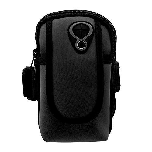 Da.Wa Langlebiges, leichtes Multifunktionsgerät Handgelenk Beutel Outdoor Sport Running Mobile Handy Arm Tasche Wallet Armband Tasche,Schwarz