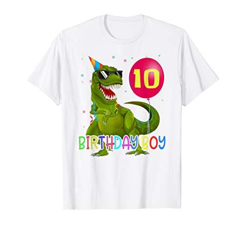 10 Jahre T-Rex Dinosaurier 10. Geburtstag T-Shirt ()