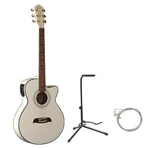 oscar schmidt by washburn og10ce concert size cutaway acoustic electric guitar combo with gig. Black Bedroom Furniture Sets. Home Design Ideas