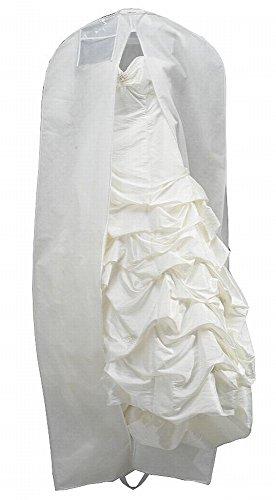 Atmungsaktive Brautkleid Schutzhülle / Kleidersack aus Vlies 200 cm Reißverschluß