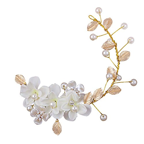 Style coréen Hand Made White Flower Wedding Head Décoration Beauty Hair