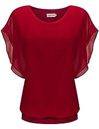Amazon.co.uk: Red - Blouses & Shirts / Women: Clothing