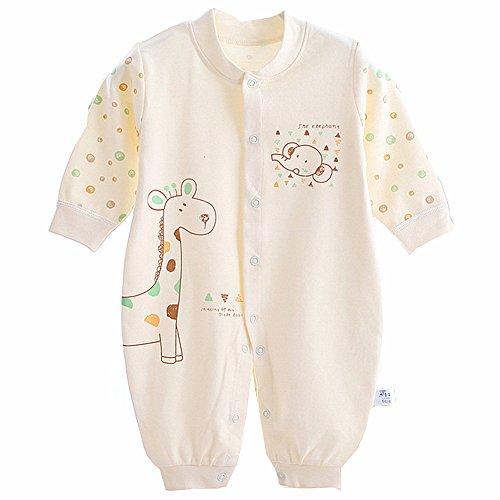 Neugeborene Kleidung, Chickwin Unisex 100 % Reine Baumwolle Warme Herbst und Winter Säuglinge Mädchen Jungen Jumpsuit Baby Schlafanzug (66 cm (3-6 Monate), (Kostüme Erwachsene Für Vegeta)