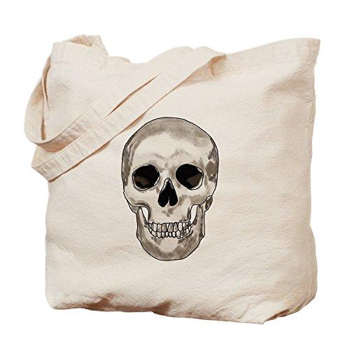 (CafePress Einkaufstasche aus Segeltuch, Totenkopf-Design, Naturfarben, canvas, khaki, S)