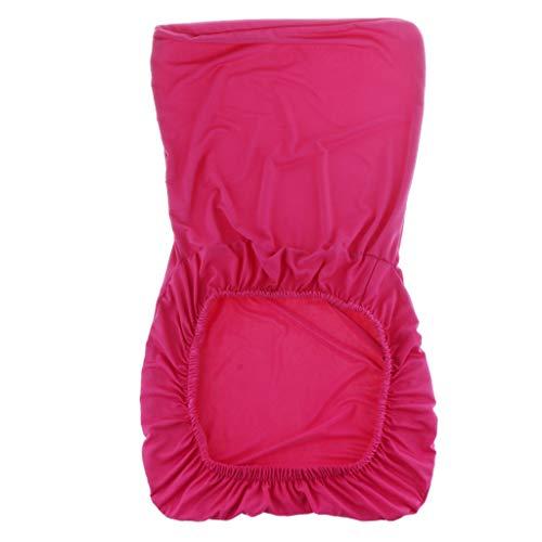 Non-brand Spandex Stretch Low Short Zurü Stuhlabdeckung Barhocker Cover - Rose Rot -