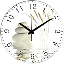 GGDGENJN Ronda Reloj de Pared/Reloj de Pared silencioso, Casa Art Deco Reloj Digital