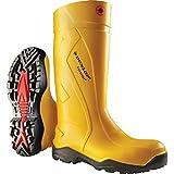 Dunlop Modell Purofort +, Gummistiefel, Gelb mit Stahlkappe und Trittschutz, En 345-S5, 38