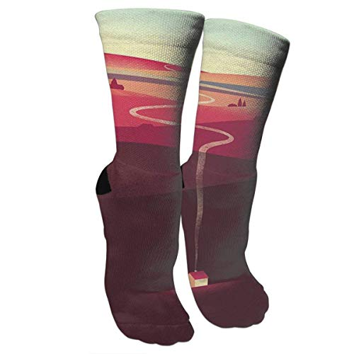 Nifdhkw Crazy Socks Creative House 3D Crew Socks - Cotton House Kleid