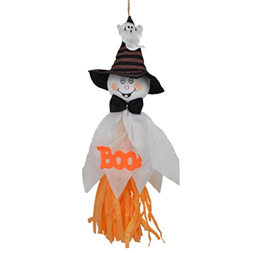 selige Hängende Vogelscheuche Geist für Heimtextilien (Weiß) (Geist Halloween Animatronics)